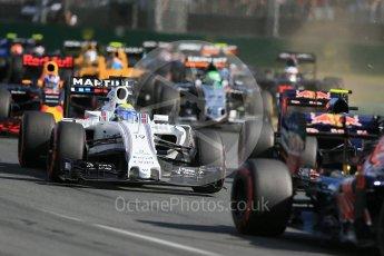 World © Octane Photographic Ltd. Williams Martini Racing, Williams Mercedes FW38 – Felipe Massa. Sunday 20th March 2016, F1 Australian GP Race, Melbourne, Albert Park, Australia. Digital Ref : 1524LB1D6954