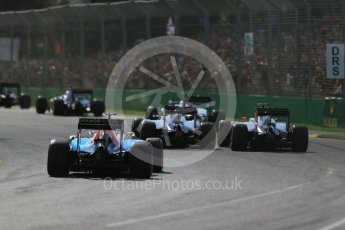 World © Octane Photographic Ltd. Haas F1 Team VF-16 - Esteban Gutierrez. Sunday 20th March 2016, F1 Australian GP Race, Melbourne, Albert Park, Australia. Digital Ref : 1524LB1D6980