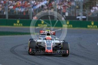 World © Octane Photographic Ltd. Haas F1 Team VF-16 - Esteban Gutierrez. Sunday 20th March 2016, F1 Australian GP Race, Melbourne, Albert Park, Australia. Digital Ref : 1524LB1D7080
