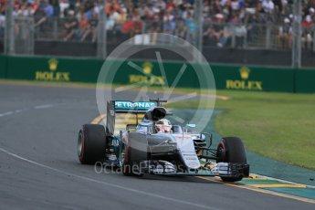 World © Octane Photographic Ltd. Mercedes AMG Petronas W07 Hybrid – Lewis Hamilton Sunday 20th March 2016, F1 Australian GP Race, Melbourne, Albert Park, Australia. Digital Ref : 1524LB1D7228