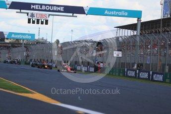 World © Octane Photographic Ltd. Scuderia Ferrari SF16-H – Kimi Raikkonen. Sunday 20th March 2016, F1 Australian GP Race, Melbourne, Albert Park, Australia. Digital Ref : 1524LB1D7353