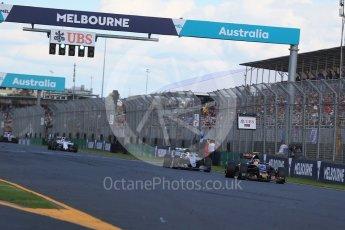 World © Octane Photographic Ltd. Scuderia Toro Rosso STR11 – Carlos Sainz. Sunday 20th March 2016, F1 Australian GP Race, Melbourne, Albert Park, Australia. Digital Ref : 1524LB1D7366