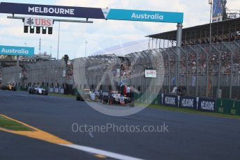 World © Octane Photographic Ltd. Haas F1 Team VF-16 – Romain Grosjean. Sunday 20th March 2016, F1 Australian GP Race, Melbourne, Albert Park, Australia. Digital Ref : 1524LB1D7380