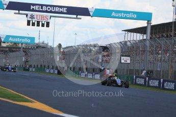 World © Octane Photographic Ltd. Sahara Force India VJM09 - Sergio Perez. Sunday 20th March 2016, F1 Australian GP Race, Melbourne, Albert Park, Australia. Digital Ref : 1524LB1D7395