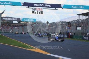 World © Octane Photographic Ltd. Sauber F1 Team C35 – Marcus Ericsson. Sunday 20th March 2016, F1 Australian GP Race, Melbourne, Albert Park, Australia. Digital Ref : 1524LB1D7402