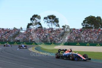 World © Octane Photographic Ltd. Manor Racing MRT05 - Pascal Wehrlein. Sunday 20th March 2016, F1 Australian GP Race, Melbourne, Albert Park, Australia. Digital Ref : 1524LB5D2107