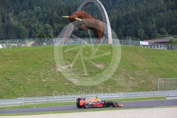 World © Octane Photographic Ltd. Red Bull Racing RB12 – Max Verstappen. Friday 1st July 2016, F1 Austrian GP Practice 1, Red Bull Ring, Spielberg, Austria. Digital Ref : 1598CB5D2638
