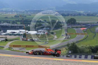 World © Octane Photographic Ltd. Red Bull Racing RB12 – Max Verstappen. Friday 1st July 2016, F1 Austrian GP Practice 1, Red Bull Ring, Spielberg, Austria. Digital Ref : 1598LB1D4961