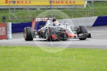 World © Octane Photographic Ltd. Haas F1 Team VF-16 – Romain Grosjean. Friday 1st July 2016, F1 Austrian GP Practice 2, Red Bull Ring, Spielberg, Austria. Digital Ref : 1600CB1D2321