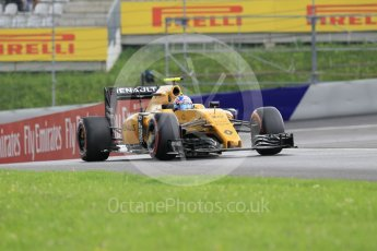 World © Octane Photographic Ltd. Renault Sport F1 Team RS16 – Jolyon Palmer. Friday 1st July 2016, F1 Austrian GP Practice 2, Red Bull Ring, Spielberg, Austria. Digital Ref : 1600CB1D2329