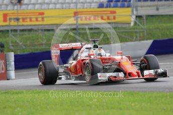 World © Octane Photographic Ltd. Scuderia Ferrari SF16-H – Sebastian Vettel. Friday 1st July 2016, F1 Austrian GP Practice 2, Red Bull Ring, Spielberg, Austria. Digital Ref : 1600CB1D2339