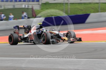 World © Octane Photographic Ltd. Scuderia Toro Rosso STR11 – Carlos Sainz. Friday 1st July 2016, F1 Austrian GP Practice 2, Red Bull Ring, Spielberg, Austria. Digital Ref : 1600CB1D2458