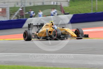 World © Octane Photographic Ltd. Renault Sport F1 Team RS16 – Jolyon Palmer. Friday 1st July 2016, F1 Austrian GP Practice 2, Red Bull Ring, Spielberg, Austria. Digital Ref : 1600CB1D2468