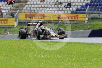 World © Octane Photographic Ltd. Scuderia Toro Rosso STR11 – Carlos Sainz. Friday 1st July 2016, F1 Austrian GP Practice 2, Red Bull Ring, Spielberg, Austria. Digital Ref : 1600CB1D2538
