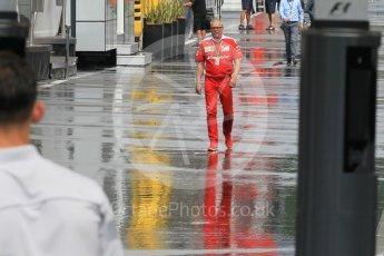 World © Octane Photographic Ltd. Scuderia Ferrari in a wet paddock. Friday 1st July 2016, F1 Austrian GP Practice 2, Red Bull Ring, Spielberg, Austria. Digital Ref : 1600CB1D2787