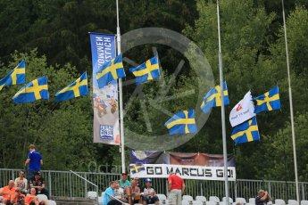 World © Octane Photographic Ltd. Sauber F1 Team C35 – Marcus Ericsson fans. Friday 1st July 2016, F1 Austrian GP Practice 2, Red Bull Ring, Spielberg, Austria. Digital Ref : 1600CB5D3058