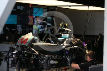World © Octane Photographic Ltd. Mercedes AMG Petronas W07 Hybrid – Lewis Hamilton's car being worked on after the session. Friday 1st July 2016, F1 Austrian GP Practice 2, Red Bull Ring, Spielberg, Austria. Digital Ref : 1600LB1D5664