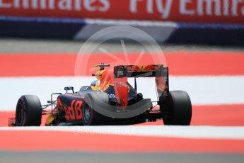 World © Octane Photographic Ltd. Red Bull Racing RB12 – Max Verstappen. Saturday 2nd July 2016, F1 Austrian GP Qualifying, Red Bull Ring, Spielberg, Austria. Digital Ref :
