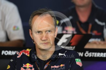 World © Octane Photographic Ltd. F1 Austrian GP FIA Personnel Press Conference, Red Bull Ring, Spielberg, Austria. Friday 1st July 2016. Paul Monaghan – Red Bull Racing Chief Engineer (Car Engineering). Digital Ref :1602LB1D6743
