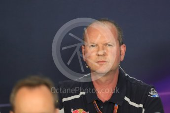 World © Octane Photographic Ltd. F1 Austrian GP FIA Personnel Press Conference, Red Bull Ring, Spielberg, Austria. Friday 1st July 2016. Graham Watson - Scuderia Toro Rosso Team Manager. Digital Ref :1602LB1D6756