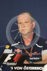 World © Octane Photographic Ltd. F1 Austrian GP FIA Personnel Press Conference, Red Bull Ring, Spielberg, Austria. Friday 1st July 2016. Graham Watson - Scuderia Toro Rosso Team Manager. Digital Ref :1602LB1D6788