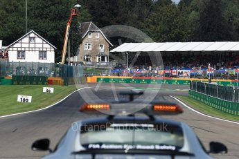World © Octane Photographic Ltd. View to Turn 1 from the grid. Sunday 28th August 2016, F1 Belgian GP Driver Parade, Spa-Francorchamps, Belgium. Digital Ref : 1691LB1D1994