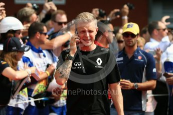 World © Octane Photographic Ltd. Renault Sport F1 Team RS16 - Kevin Magnussen. Sunday 28th August 2016, F1 Belgian GP Driver Parade, Spa-Francorchamps, Belgium. Digital Ref : 1691LB1D2012