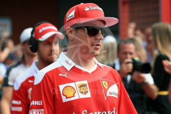 World © Octane Photographic Ltd. Scuderia Ferrari SF16-H – Kimi Raikkonen. Sunday 28th August 2016, F1 Belgian GP Driver Parade, Spa-Francorchamps, Belgium. Digital Ref : 1691LB1D2061