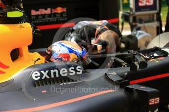 World © Octane Photographic Ltd. Red Bull Racing RB12 – Max Verstappen. Sunday 28th August 2016, F1 Belgian GP Grid, Spa-Francorchamps, Belgium. Digital Ref : 1691LB1D2309