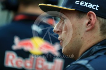 World © Octane Photographic Ltd. Red Bull Racing RB12 – Max Verstappen. Sunday 28th August 2016, F1 Belgian GP Grid, Spa-Francorchamps, Belgium. Digital Ref : 1691LB1D2357