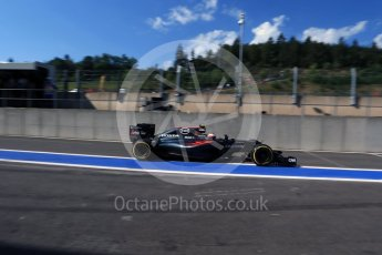 World © Octane Photographic Ltd. McLaren Honda MP4-31 – Jenson Button. Saturday 27th August 2016, F1 Belgian GP Practice 3, Spa-Francorchamps, Belgium. Digital Ref : 1687LB2D3990