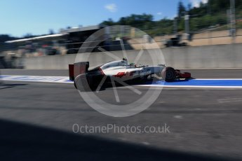 World © Octane Photographic Ltd. Haas F1 Team VF-16 - Esteban Gutierrez. Saturday 27th August 2016, F1 Belgian GP Practice 3, Spa-Francorchamps, Belgium. Digital Ref : 1687LB2D4055