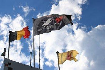 World © Octane Photographic Ltd. Saturday 27th August 2016, Formula 1 flag, Spa-Francorchamps, Belgium. Digital Ref : 1682LB1D0560