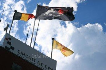 World © Octane Photographic Ltd. Saturday 27th August 2016, Formula 1 flag, Spa-Francorchamps, Belgium. Digital Ref : 1682LB1D0566