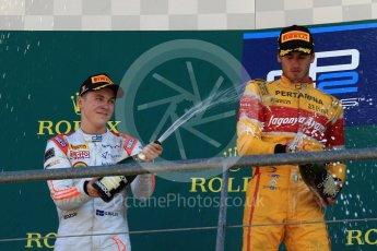 World © Octane Photographic Ltd. Prema Racing - GP2/11 – Antonia Giovinazzi, Rapax - GP2/11 – Gustav Malja and Trident - GP2/11 – Luca Ghiotto. Sunday 28th August 2016, GP2 Race 2, Spa-Francorchamps, Belgium. Digital Ref : 1690LB2D4665