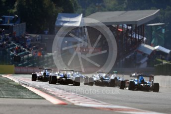 World © Octane Photographic Ltd. Grid goes around Turn 1. Sunday 28th August 2016, GP3 Race 2, Spa-Francorchamps, Belgium. Digital Ref : 1689LB1D1188