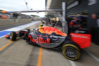 World © Octane Photographic Ltd. Red Bull Racing RB12 – Max Verstappen. Saturday 9th July 2016, F1 British GP Practice 3, Silverstone, UK. Digital Ref : 1625LB1D8351