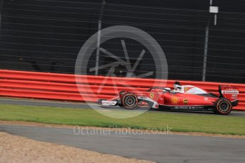 World © Octane Photographic Ltd. Scuderia Ferrari SF16-H – Sebastian Vettel with halo. Friday 8th July 2016, F1 British GP Practice 1, Silverstone, UK. Digital Ref : 1619LB1D0824