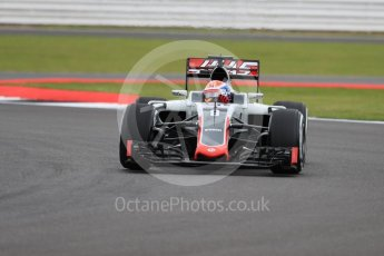 World © Octane Photographic Ltd. Haas F1 Team VF-16 – Romain Grosjean. Friday 8th July 2016, F1 British GP Practice 1, Silverstone, UK. Digital Ref : 1619LB1D0861