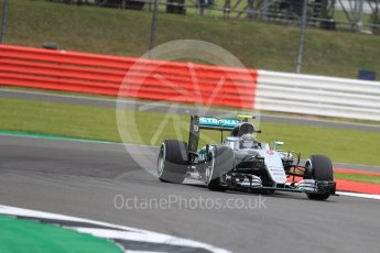 World © Octane Photographic Ltd. Mercedes AMG Petronas W07 Hybrid – Nico Rosberg. Friday 8th July 2016, F1 British GP Practice 1, Silverstone, UK. Digital Ref : 1619LB1D0919