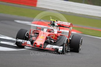 World © Octane Photographic Ltd. Scuderia Ferrari SF16-H – Kimi Raikkonen. Friday 8th July 2016, F1 British GP Practice 1, Silverstone, UK. Digital Ref : 1619LB1D1103