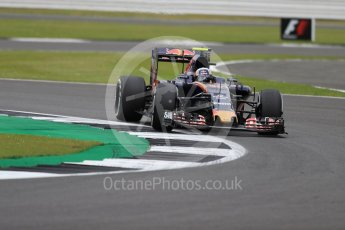 World © Octane Photographic Ltd. Scuderia Toro Rosso STR11 – Carlos Sainz. Friday 8th July 2016, F1 British GP Practice 1, Silverstone, UK. Digital Ref : 1619LB1D1453