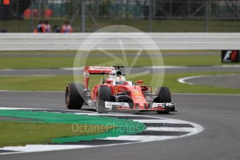 World © Octane Photographic Ltd. Scuderia Ferrari SF16-H – Sebastian Vettel. Friday 8th July 2016, F1 British GP Practice 1, Silverstone, UK. Digital Ref : 1619LB1D1482