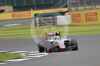 World © Octane Photographic Ltd. Haas F1 Team VF-16 Development driver - Santino Ferrucci. Friday 8th July 2016, F1 British GP Practice 1, Silverstone, UK. Digital Ref : 1619LB1D1573