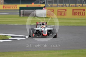 World © Octane Photographic Ltd. Haas F1 Team VF-16 Development driver - Santino Ferrucci. Friday 8th July 2016, F1 British GP Practice 1, Silverstone, UK. Digital Ref : 1619LB1D1631