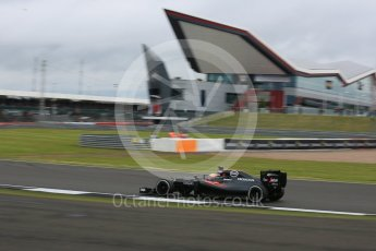 World © Octane Photographic Ltd. McLaren Honda MP4-31 – Fernando Alonso. Friday 8th July 2016, F1 British GP Practice 1, Silverstone, UK. Digital Ref : 1619LB5D5376