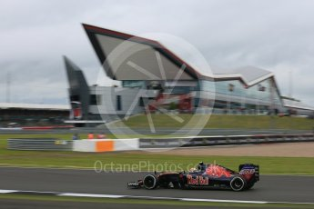 World © Octane Photographic Ltd. Scuderia Toro Rosso STR11 – Carlos Sainz. Friday 8th July 2016, F1 British GP Practice 1, Silverstone, UK. Digital Ref : 1619LB5D5395