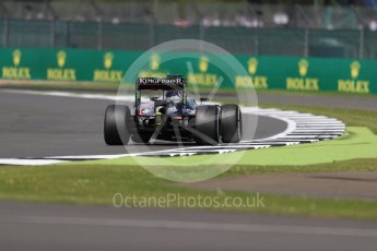 World © Octane Photographic Ltd. Sahara Force India VJM09 - Sergio Perez. Friday 8th July 2016, F1 British GP Practice 2, Silverstone, UK. Digital Ref : 1621LB1D2494
