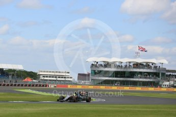 World © Octane Photographic Ltd. Sahara Force India VJM09 - Sergio Perez. Friday 8th July 2016, F1 British GP Practice 2, Silverstone, UK. Digital Ref : 1621LB5D5552