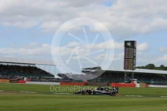 World © Octane Photographic Ltd. Sahara Force India VJM09 - Sergio Perez. Friday 8th July 2016, F1 British GP Practice 2, Silverstone, UK. Digital Ref : 1621LB5D5732